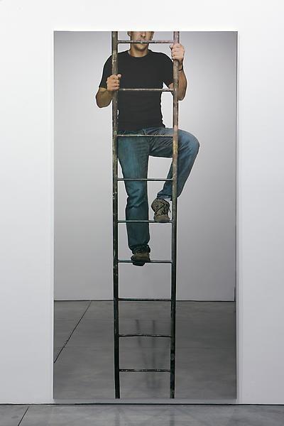 Michelangelo Pistoletto Uomo che sale la scala a pioli (Man climbing the ladder), 2008