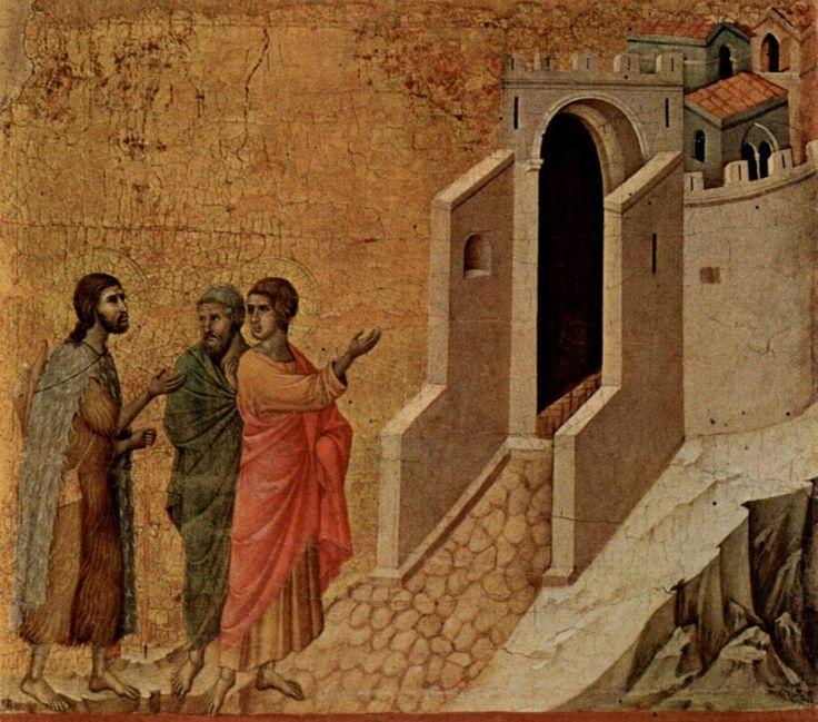 #santidelgiorno Cleopa e la Maestà di Duccio