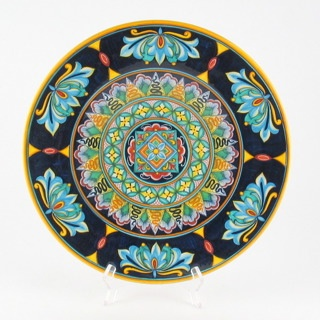 Deruta italian ceramic decoration - Geometric wall plate