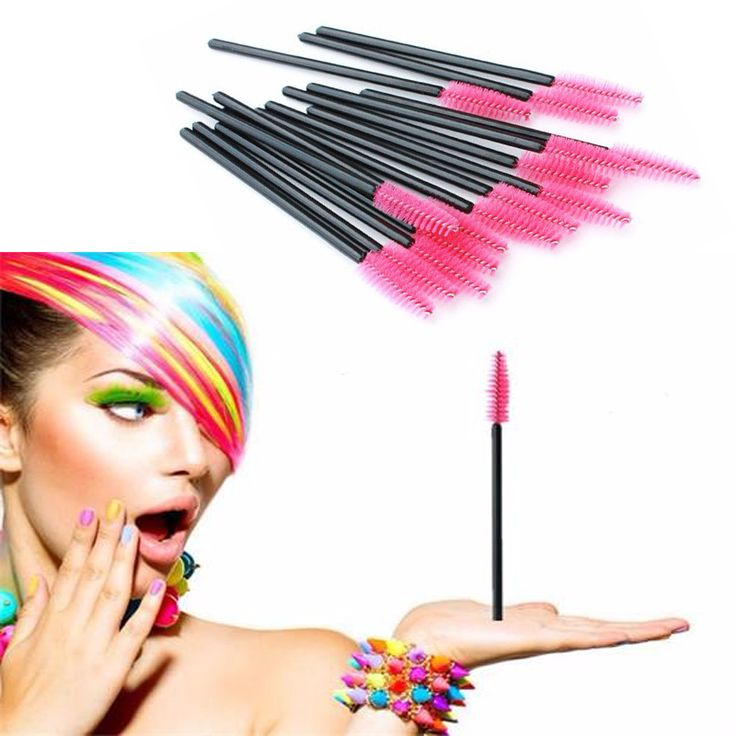 100Pcs Disposable Eyelash Brush Mascara Wands Applicator Spoolers Eye Lashes Cosmetic Brushes Set Makeup Tool Multicolor #Affiliate