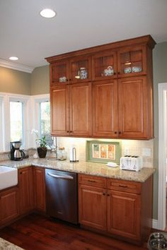 34 Best Images About Kitchen Honey Oak Cabinets And Wall