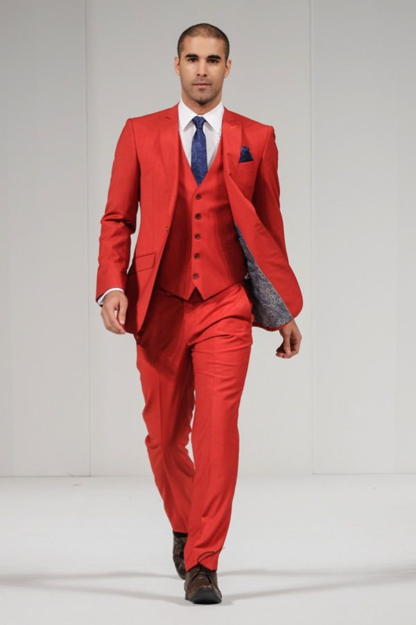 A Red Grooms Suit From Moss Bros Wedding Dress Trends For 2017 The National