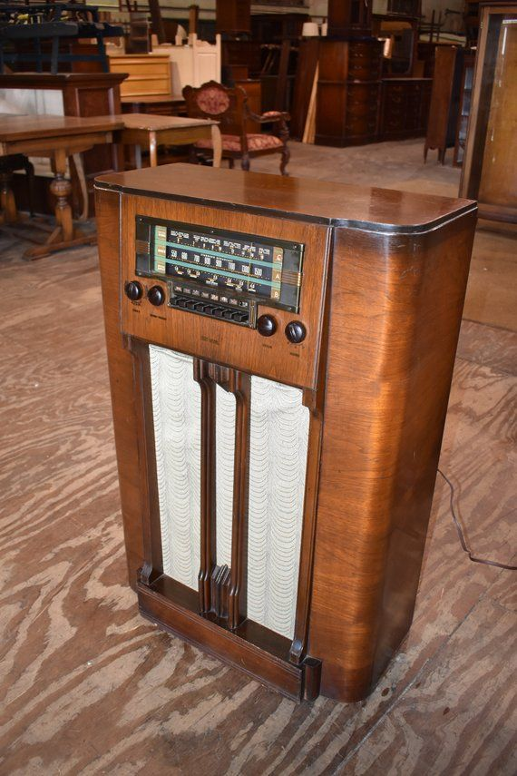 1939 Model K60 Antique Vintage Rca Victor Console Tube Radio Working