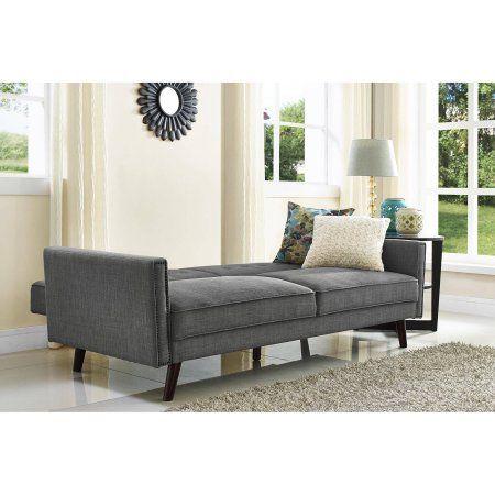 Better Homes and Gardens Rowan Linen Futon, Grey