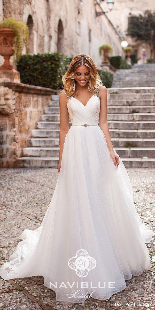 Gown de mariée bleu marine 2019 # Robes # Mariage # Idées de mariage # Robes de mariage #L