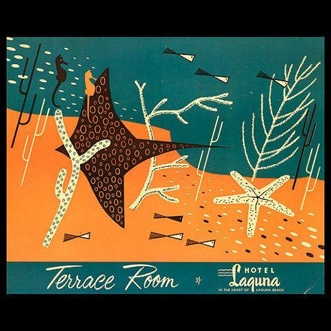 Arkiva Tropkia: Arkiva Tropika, Fish, Art Design, 1950S Luncheon, 1950S Menu, Laguna Beaches, 50S Illustrations, Graphics Designillus, Luncheon Menu