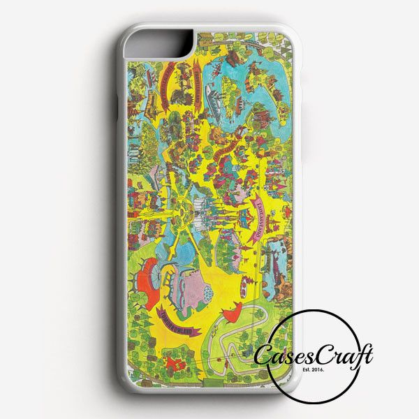 Vintage Walt Disney World Map Fantasyland 1971 iPhone 7 Plus Case | casescraft