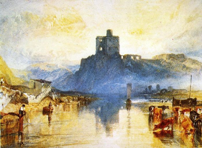 "Norham Castle, on the Tweed (for ""Rivers of England"") : Joseph Mallord William Turner : Museum Art Images : Museuma"