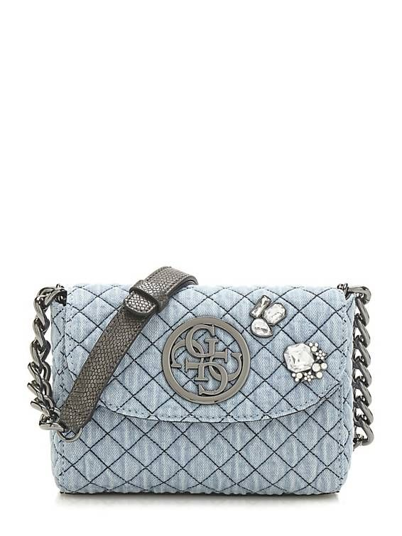 G Lux Denim Crossbody Bag Guess Eu Handbagcraze Pinterest Bags Chain Lengths And Silver Color