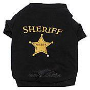 Sheriff Breathable Terylene T-Shirt for Dogs ... – USD $ 6.75