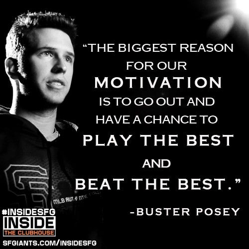 Buster Posey talks about the motivation for the #SFGiants that they plan to carry with them into the 2013 season.  #InsideSFG