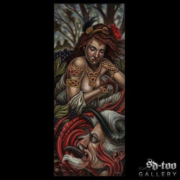 "Valentine - 10x24"" Inkjet Giclee Art Print - SD-too Gallery - Terry Ribera  - Remington Tattoo Artist Print - http://shop.sd-too.com"