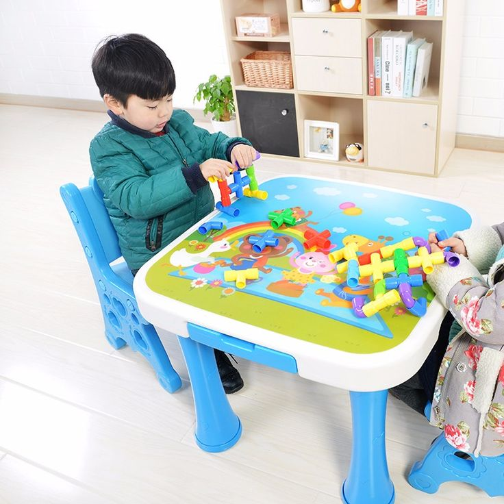 kids plastic study table and chair