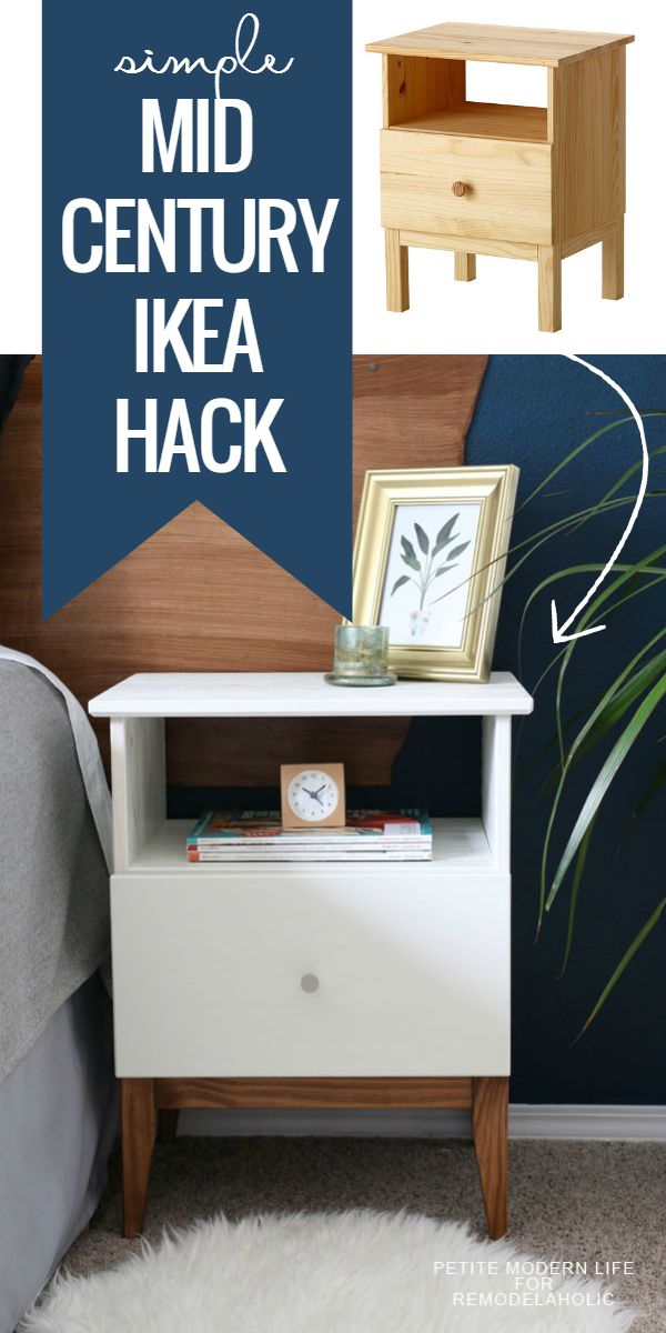 Make IKEA look like classic mid century with this easy TARVA nighstand hack. It will only take you a couple of extra minutes of prep before assembling! Ikea hack