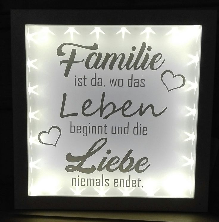 Ribba, Leuchtrahmen, Plotter, Spruch, Familie, Vinyl, Cameo, Katevi