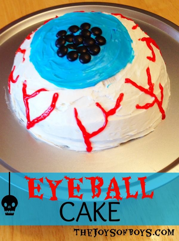 This Eyeball Cake is an easy Halloween cake and is perfect for a quick cake for a Halloween Party.