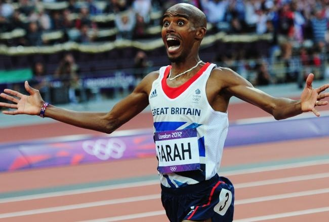 Mo Farah Becomes British Olympic Hero, Wins 5,000 and 10,000-Meter ...