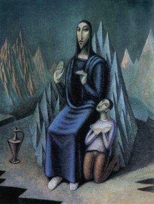 Jan Zrzavý - Sermon on the Mount. #art #Czechia #painting