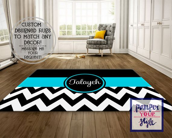 Pamper Your Style would love to design you an Area Rug to match your themed room! I create each design to be a perfect fit for the area you are trying to fill. About the Rugs: Rugs are Soft, Low Profile Fuzzy Nap. 100% Polyester Rug Top - Sublimated in USA Approx. 1/2 thick White