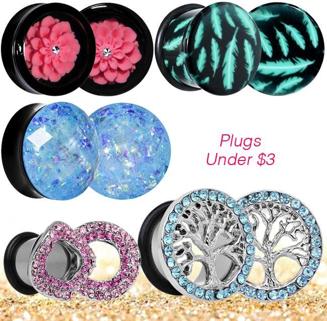 #plugs and #tunnels for your ears - and they won't break the bank!