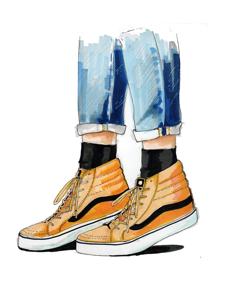 Vans Fashion Illustration by Morgan Swank