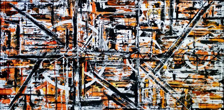 "De Flo De Flo - Nr.219.Abstracta painting [Timeline]- D-[100x50] Pictura abstracta lucrari originale De Flo ""The painting has a life of its own. I try to let it come through""     -Jackson Pollock-"