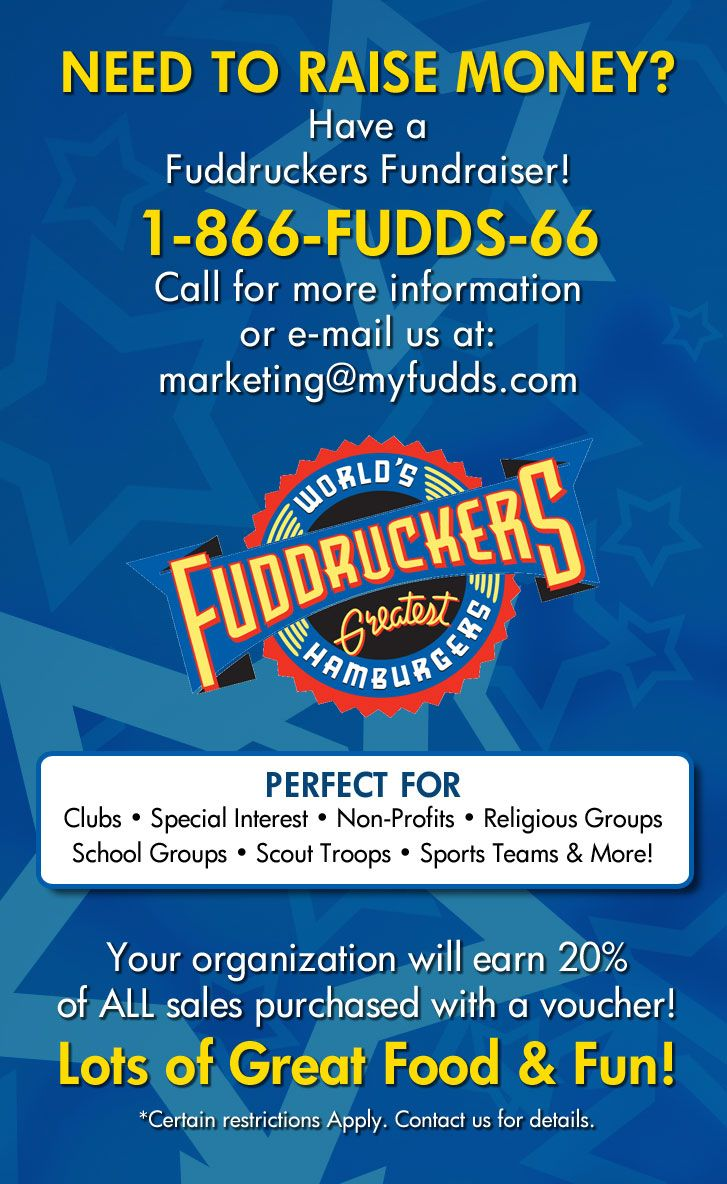 fuddruckers fundraisers | raise money for your organization