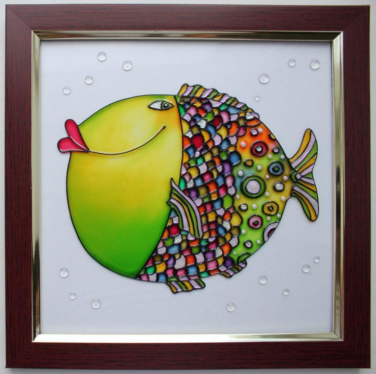 "Gallery.ru / триптих ""Рыбки"" - КАРТИНЫ ""Рыбная тема"" - YS-art"