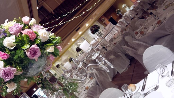 Chris and Sophie's beautiful #wedding @Newcastle City Hall.  #crystal #candelabras