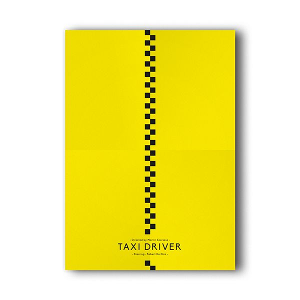 Taxi Driver poster as interpreted by Maxime Damo on Behance for the #FilmDooCreativity movie poster competition