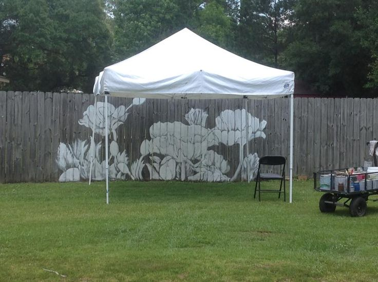 26 best fence murals images on pinterest painted fences for Garden fence features