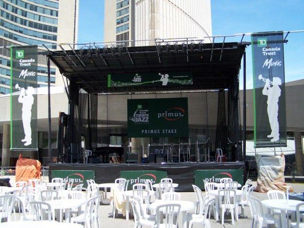 Printing Services - TD - Jazz Festival Banner | Middleton Group Inc.