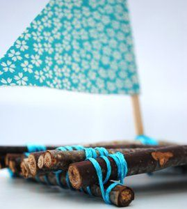Sail the seven seas, or just a puddle with the Good Ship Twiggy. This phenomenal idea for homemade toys are great summer outdoor activities because they will said and can be made again and again. Anchors aweigh!