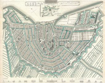 1938 Amsterdam City Centre Street Plan by CarambasVintage on Etsy