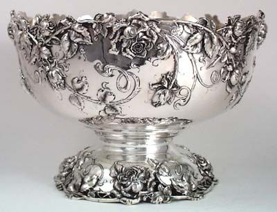 Bailey Banks Biddle Sterling Punch Bowl 1906...I think it would be lovely to…