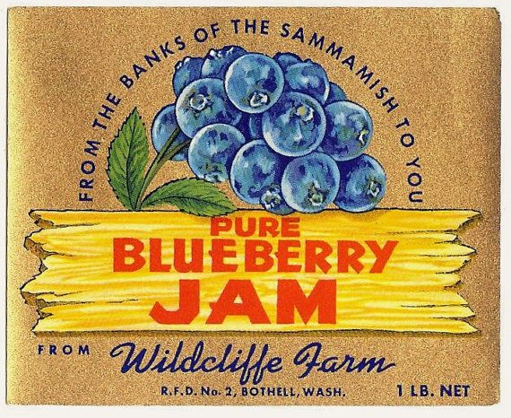 Blueberry Jam Vintage label