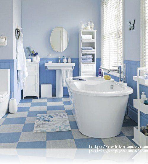 Modern Mavi Banyo