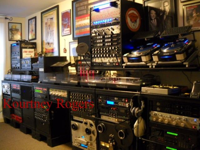 """The FunkYards"" circa 2008 DJ Room, DJ Booth, DJ EQUIPMENT, ROTARY MIXER, DJ MIXER, DJ GEAR"