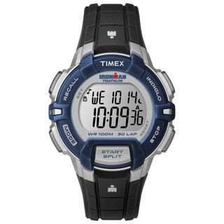 Timex Women's T5K8109J Ironman Rugged 30 Mid-size Black/ Blue Digital Watch