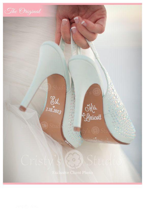 Wedding Shoe Decals Shoe Decals for Wedding by CristysStudio