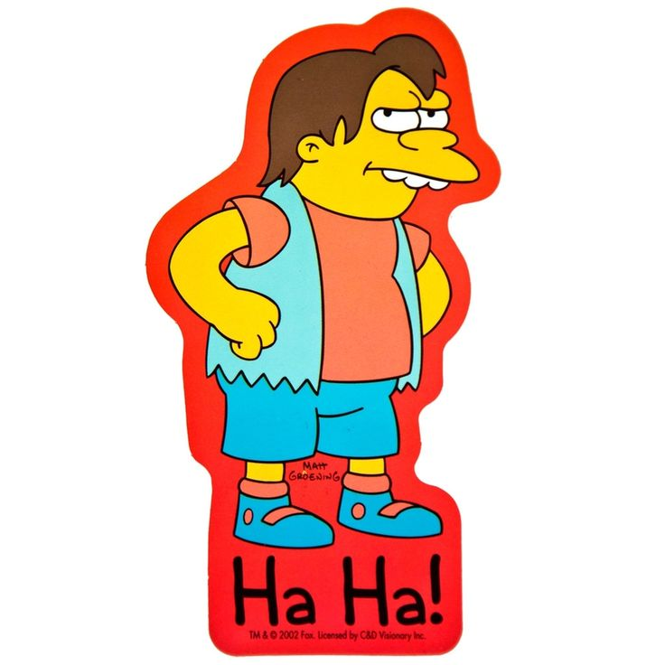 Simpsons - Nelson Ha Ha Sticker