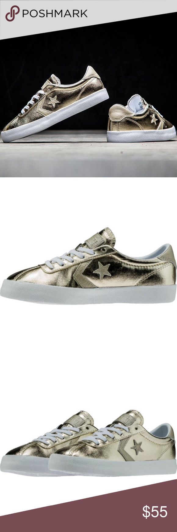 ❗️1 HOUR-SALE❗️Converse womens metallic gold shoes Brand new. Ships same day or very next. Converse Shoes Sneakers