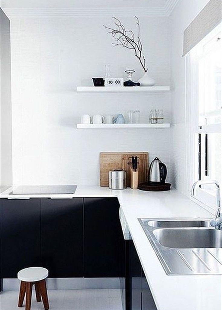 Cuisine Sans Meuble Haut En 2020 Decoration Minimaliste Cuisine Minimaliste Idee Deco Moderne