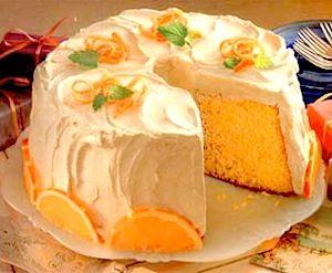 Recipe: Orange Chiffon Cake with Spice and Orange Frosting - Recipelink.com