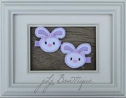 Light Purple Bunny Hair Clips -$5.00 for pair available on jLj Bowtique
