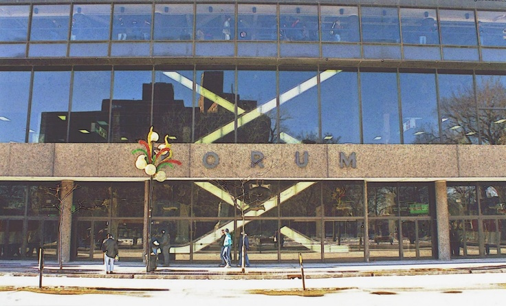 Forum de montréal novembre 1980, domicile des Canadiens de Montréal de 1924 à 1996 - Montreal's Forum november 1980, home of the Montreal Canadien hockey club from 1924 to 1996