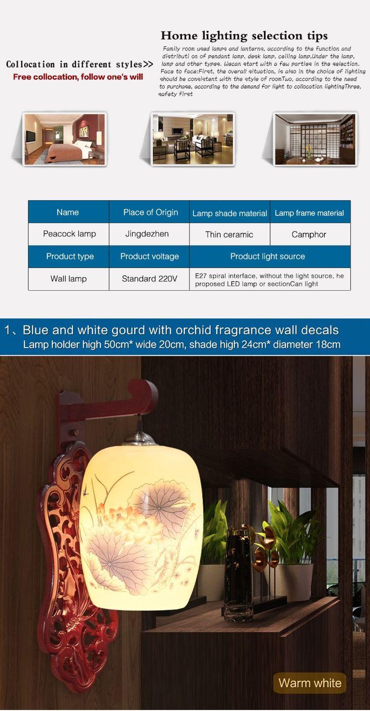 Tradditional стена лампы для чтения керамические дерево ремесло ночной украшения дома отель ночники из светодиодов E27 220 В 110 В купить на AliExpress
