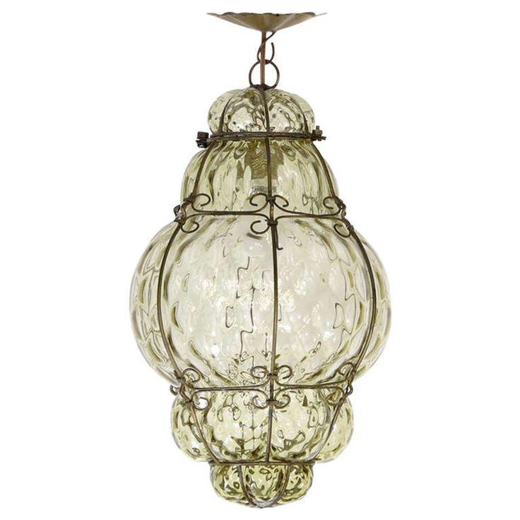 Glass Lighting Pendants Elegant Hand Blown Or Pendant: Murano Ceiling Hand Blown Glass Pendant Lamp By Seguso