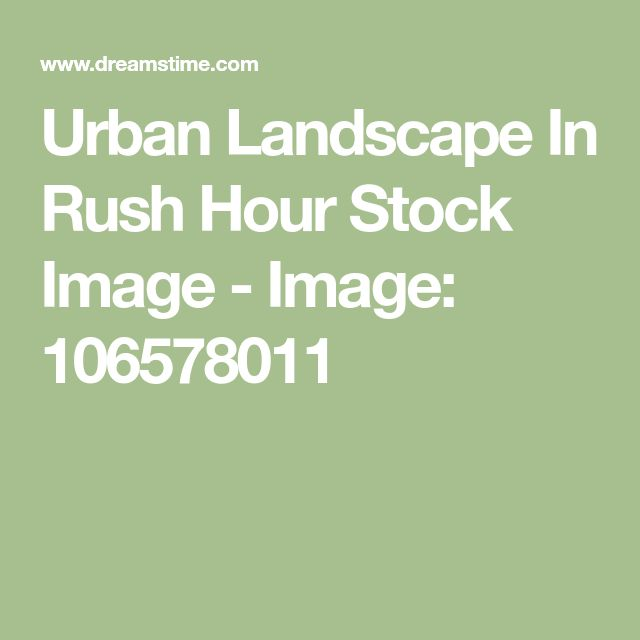Urban Landscape In Rush Hour Stock Image - Image: 106578011