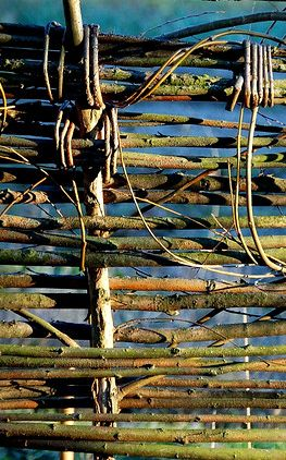 Woven country fence...how beautiful